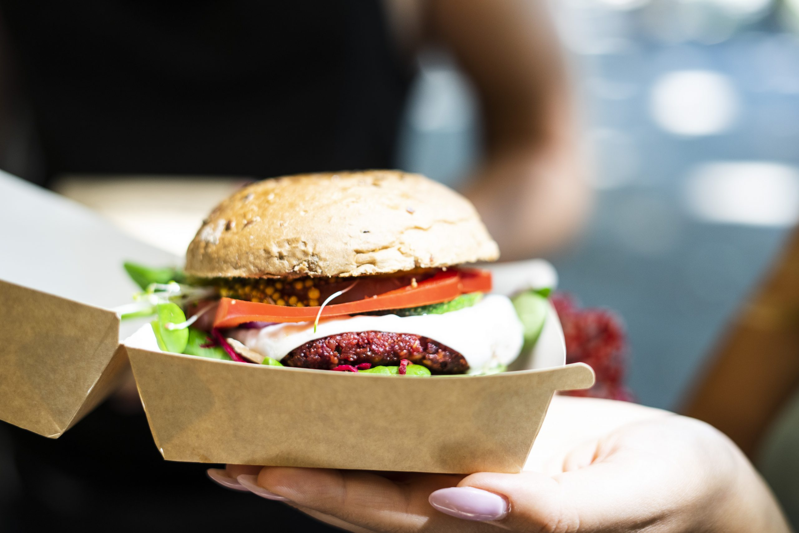 Vege/vegan burger - burak, marchew, bób